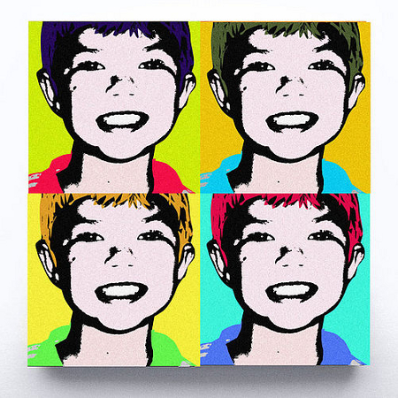 Pop Art style canvas made from an image of your child