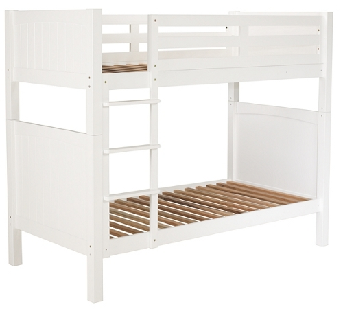 White painted children's bun bed