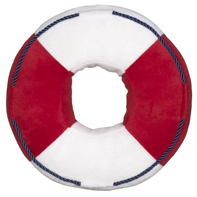 Boy's cushion shaped like a life saver ring