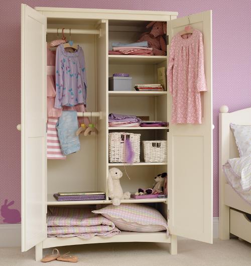 White Painted Children's Wardrobe