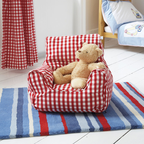 Red Gingham Beanbag