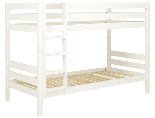 Pine bunk bed with white finish