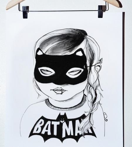Batgirl art print by Mini & Maximus