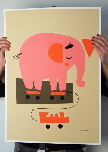 Darling Clementine Elephant Print