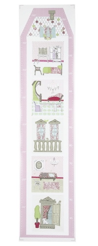 Girl's height chart with doll's house design