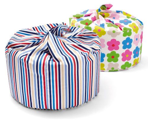 Kid's multi-coloured beanbags