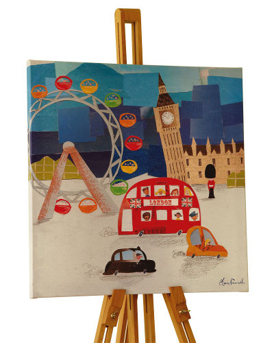 Children's wall canvas depicting the sights of London
