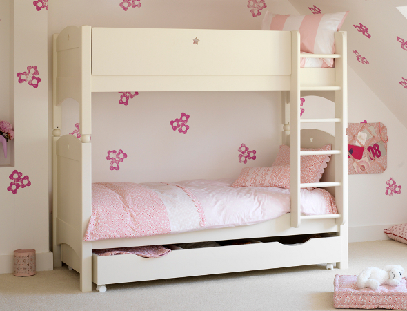 Ivory poplar children's bunk bed