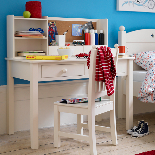 White painted children's study desk