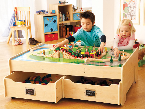 Multipurpose Play Table With Trundle Drawers