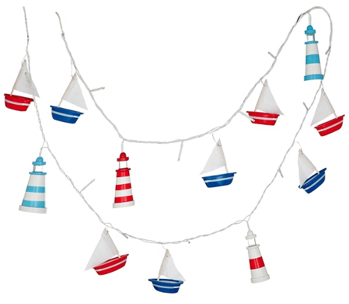 Children's string lights  to compliment a nautical theme