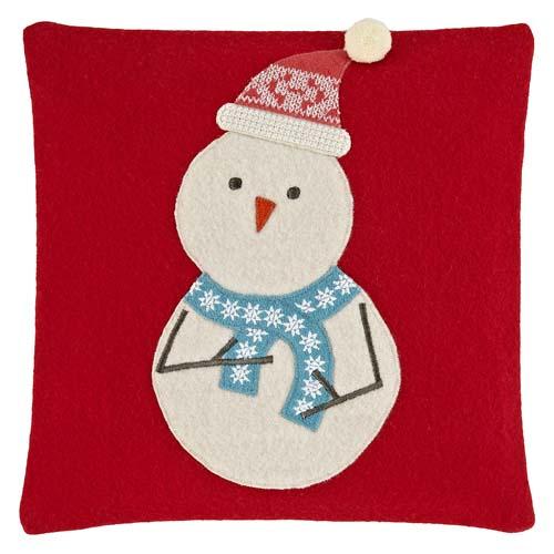 John Lewis Stan Snowman Cushion