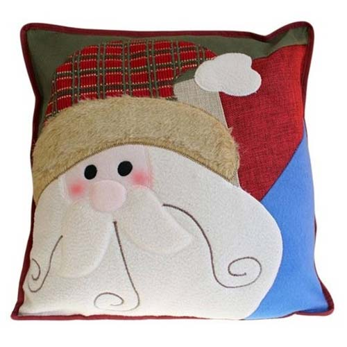 Santa's Face Christmas Cushion
