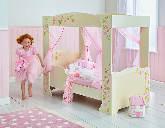 World's Apart 4-Poster Toddler Bed