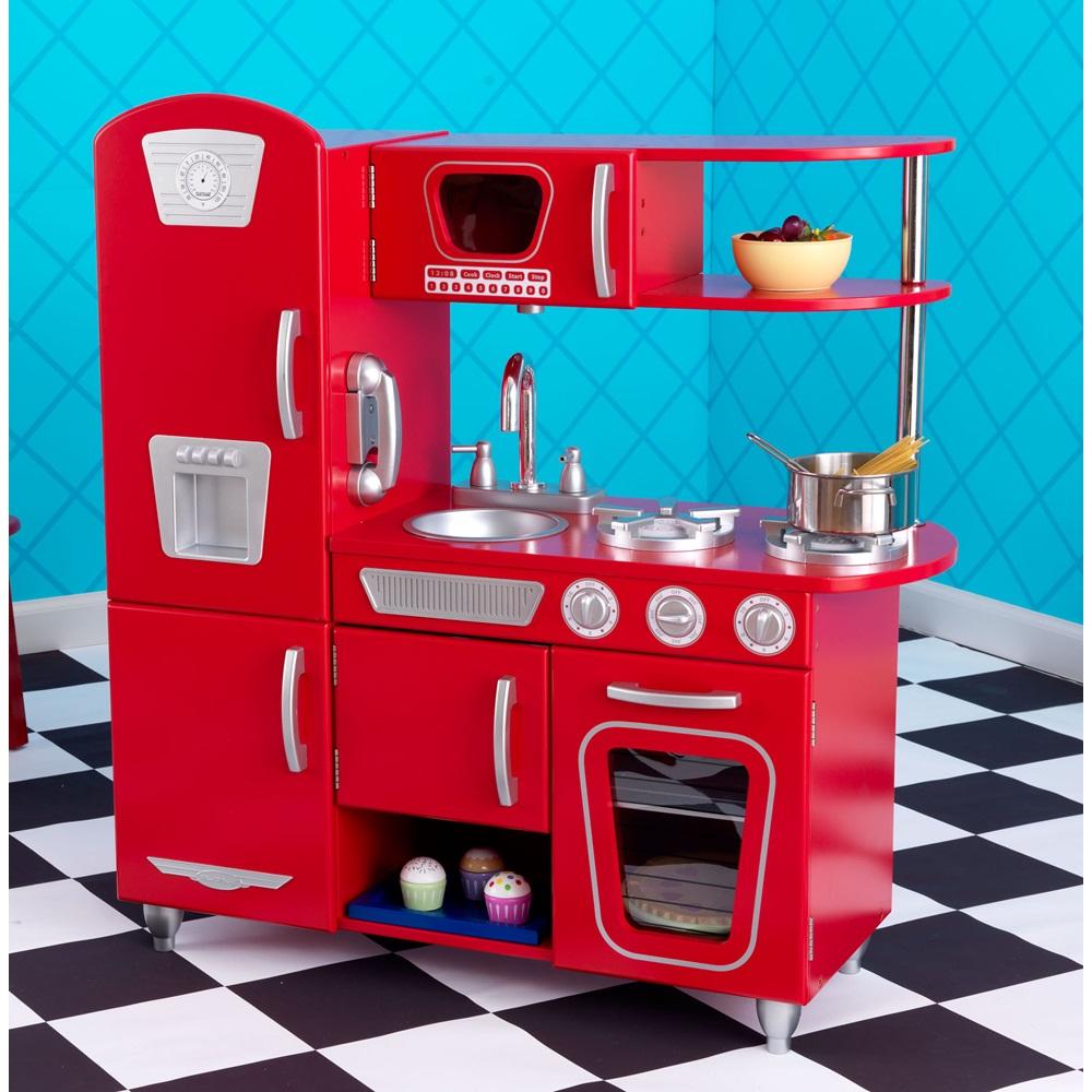 Red Vintage Kitchen