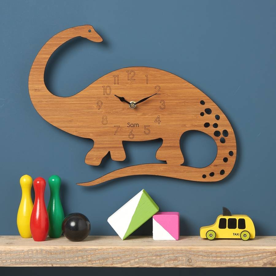 Diplodocus Personalised Children's Dinosaur Clock